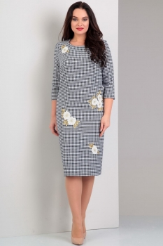 Платье Jurimex 1711 черно-белый