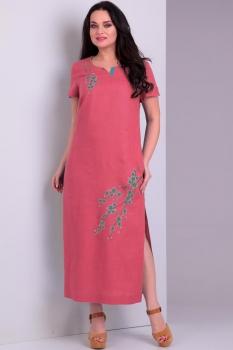 Платье Jurimex 1728-3 Коралловый с бирюзовым
