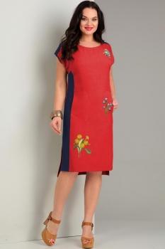 Платье Jurimex 1735-1 Красный с синим