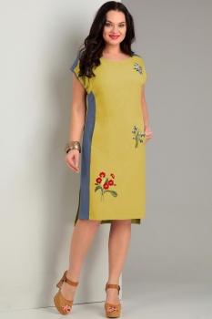 Платье Jurimex 1735-2 Желтый с синим