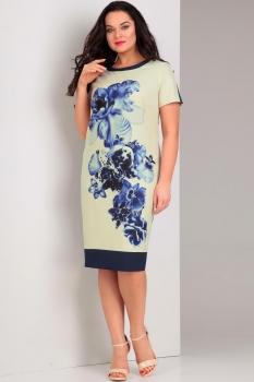 Платье Jurimex 1737-2 Молочный с синим