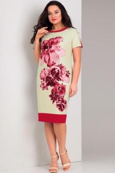Платье Jurimex 1737 Коралловый с молочным