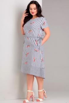 Платье Jurimex 1741 белый с синим