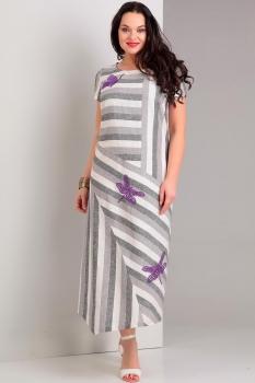 Платье Jurimex 1743 Серый с белым