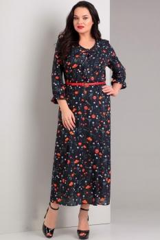 Платье Jurimex 1747 Темно-синий с красным