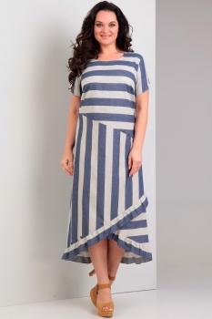 Платье Jurimex 1758-1 синий с серым
