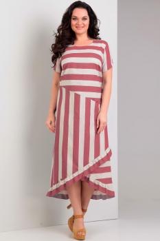Платье Jurimex 1758 Серый с красным