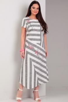 Платье Jurimex 1769 Светло-серый с цветной вышивкой