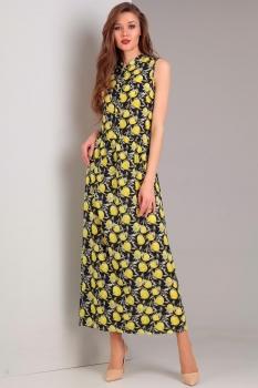 Платье Jurimex 1772 Желтый с темно-синим