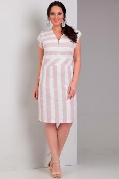 Платье Jurimex 1773 светло-розовый с белым