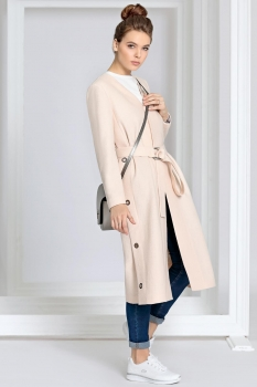 Пальто Kaloris 1383 розовый