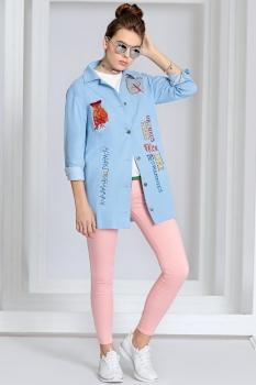 Куртка Kaloris 1400 голубой