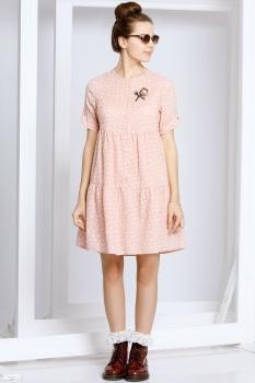 Платье Kaloris 1402-1 розовый