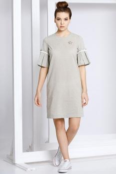 Платье Kaloris 1403 бежевые-тона