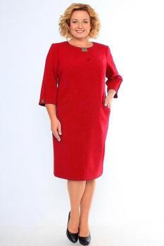 Платье Кокетка и К 340-1 красные тона