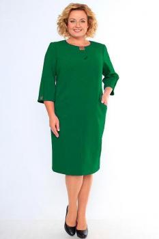 Платье Кокетка и К 340-2 зеленые тона