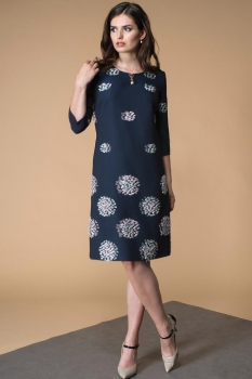 Платье Кокетка и К 465 темно-синий