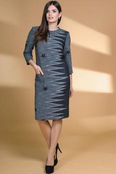 Платье Кокетка и К 471 серые тона