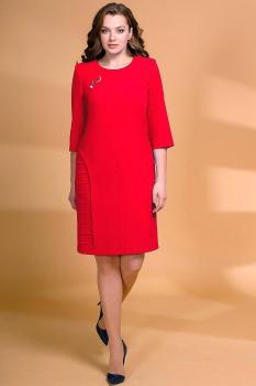Платье Кокетка и К 472 красные тона