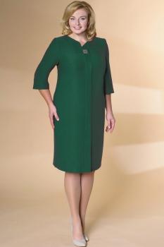 Платье Кокетка и К 475 темно-зеленый