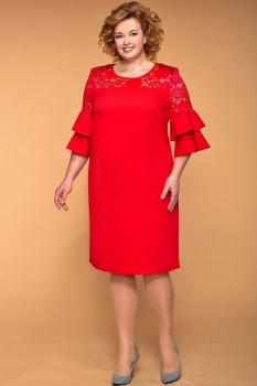 Платье Кокетка и К 511 красные тона