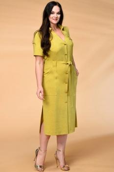 Платье Кокетка и К 521-1 горчичиный