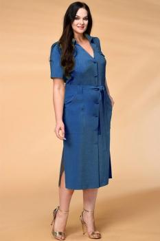 Платье Кокетка и К 521-2 синие тона