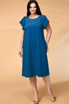 Платье Кокетка и К 522-2 синие тона