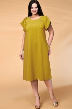 Платье Кокетка и К 522 горчичиный