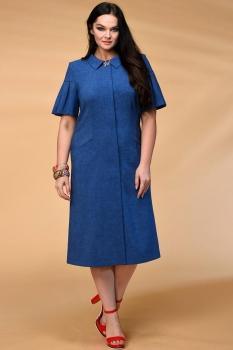 Платье Кокетка и К 524 синие тона