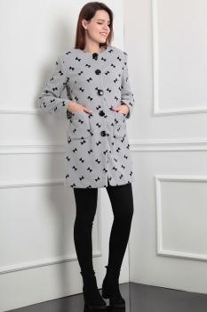 Пальто Lady Line 394-1 серый