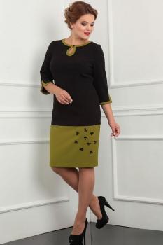 Платье Lady Line 398 олива