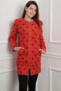 Пальто Lady Line 404-1 красный