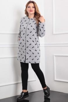 Пальто Lady Line 404 серый