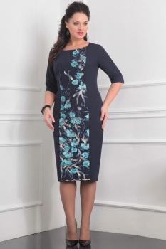 Платье Lady Line 410 темно-синий