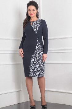 Платье Lady Line 414 темно-синий