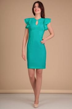 Платье Lady Line 417-1 бирюза