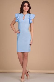 Платье Lady Line 417-2 голубой