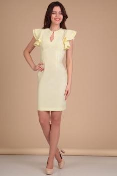 Платье Lady Line 417 светло-желтый
