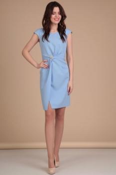 Платье Lady Line 418-1 голубой