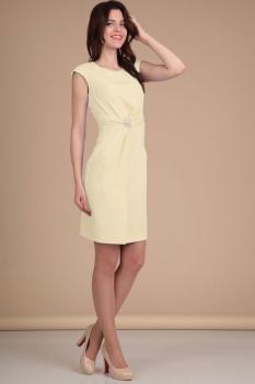 Платье Lady Line 418 светло-желтый