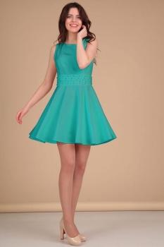 Платье Lady Line 423-2 бирюза