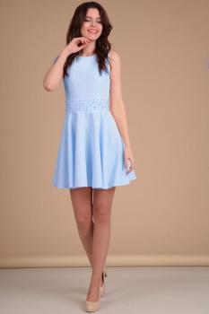 Платье Lady Line 423-3 голубой