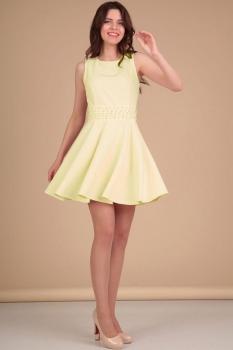 Платье Lady Line 423-4 светло-желтый
