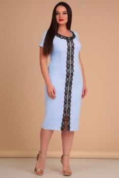 Платье Lady Line 426-2 голубой