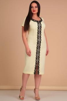 Платье Lady Line 426 светло-желтый