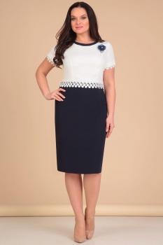 Платье Lady Line 429 молочно-синий