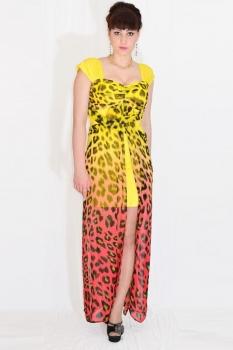 Платье Lady Secret 3103-1 желтый с пламенным