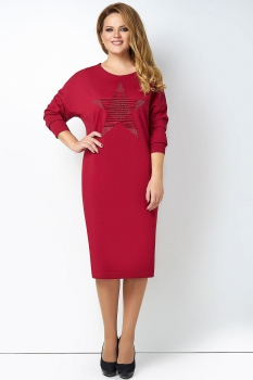 Платье Lady Secret 3460-3 бордовый