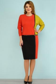 Платье Lady Secret 3521 красно-черный